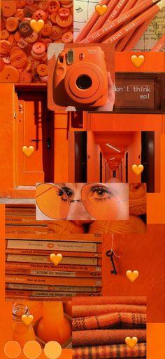 Orange Aesthetic, Aesthetic Colors, Aesthetic Collage, Aesthetic Grunge, Aesthetic Vintage, Iphone Wallpaper Tumblr Aesthetic, Black Aesthetic Wallpaper, Aesthetic Wallpapers, Wallpaper Pink And Orange