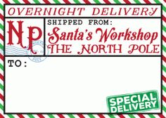 Silhouette Design Store - View Design #70628: north pole shipping label