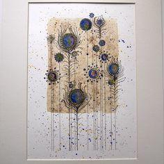 Love this, by Jools Yasities - Peacock Flowers Original Watercolour - Folksy