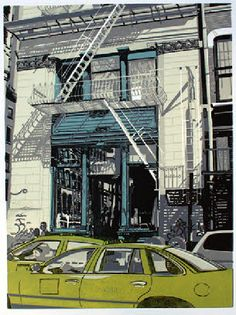 New York, New York - Walter Buttrick It is a seven colour reduction linocut in a very limited edition of only nine. You can check out more of his work here  http://www.walterbuttrickprints.com/page6.html# S