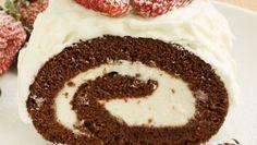 Čokoládová roláda s krémom Vanilla Cake, Food, Essen, Meals, Yemek, Eten