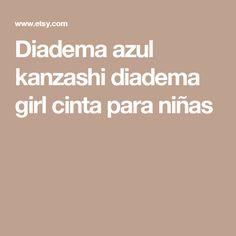 Diadema azul kanzashi diadema girl cinta para niñas