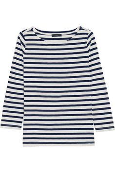 Navy and white cotton-jersey Slips on  100% cotton Hand wash or dry clean