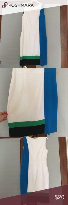 b85a19df7f9 Calvin Klein Sleeveless Color-block Dress Polyester lined sleeveless dress