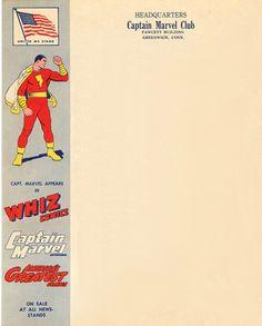 Letterhead of the Captain Marvel club