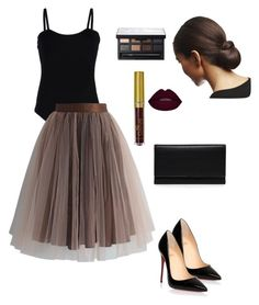 """""""Untitled #141"""" by pricsila-marquina-gonzalez on Polyvore featuring Christian Louboutin, NARS Cosmetics, Carré Royal, Baguette..... and Chicwish"""