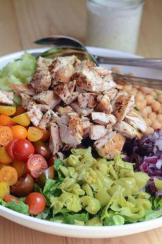 Mediterranean Chicken Chopped Salad