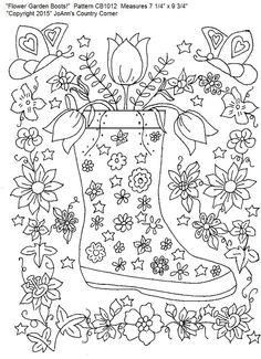 """Erwachsenen Designs Färbung Seite Muster, Stress, Linderung der schönen und detaillierten! """"Blumengarten Boot!"""""""