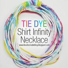 Tie Dye Shirt Infinity Necklace