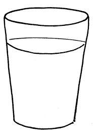 Resultado de imagem para imagem de copo para colorir