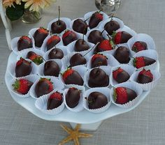chocolate dipped strawbs for sweet table