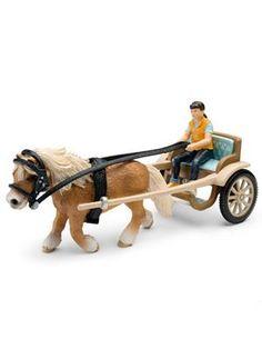 Perfecto para un paseo por la granja o por la calle, el carruaje te lleva adonde tu quieras.