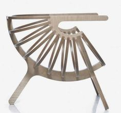 Cocoon-Shaped Chairs - The Plywood Chair W_01 by Branca is Distinctively Curved (GALLERY)