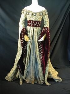 Dress worn by Gerd Larsen and Rosalind Eyre as The Queen Mother in Act III of The Royal Ballet Touring Company production of 'Swan Lake' (1965) and The Royal Ballet production of 'Swan Lake' (1979)