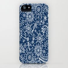 Graphic Ink Doodles (blue) iPhone & iPod Case #iphone5 #iphone5cases