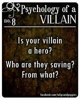 Psychology of a Villain - No. 8 #writersblock Click the photo to ...