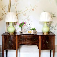 Classically Elegant New Orleans Home: Dining Room Sideboard