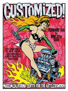 "Coop poster art: ""Customized"" art show, Escondido"
