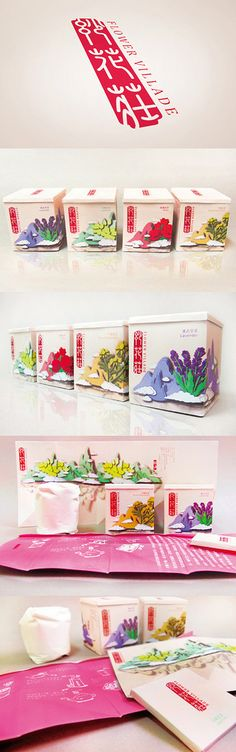 Very pretty Flower Villade #tea #packaging (sorry no source link) PD