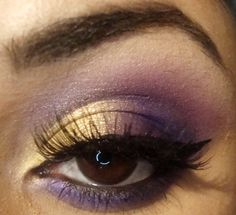 Image detail for -Gold And Purple Eyeshadow Tutorial | Purple Eyeshadow for Brown Eyes