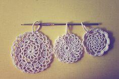 FREE #crochet pattern for 3 doily ornaments! via goodknits