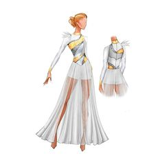 Fashion Illustration Sketches, Fashion Sketches, Color Guard Quotes, Color Guard Costumes, Creative Costuming Designs, Colour Guard, Color Guard Uniforms, Costume Design Sketch, Figure Skating Dresses