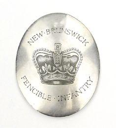 The New Brunswick Regiment of Fencible Infantry- Officer's Shoulder Belt Plate- 1803-1810 (silver)