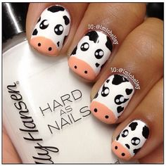 cows by  imichelley  #nail #nails #nailart