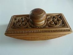 Nice Vintage Scandinavian Carved Wood Folk ART Craft Desk Blotter | eBay