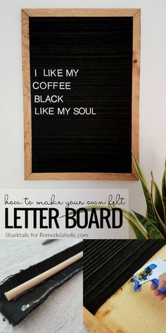 DIY Felt Letter Board Tutorial   Instead Of Spending Big Bucks To Buy One,  Make Your Own Felt Letter Board For Messages, Your Weekly Menu, Or Whatever  Youu0027d ...