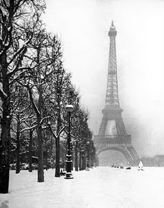 ...Paris in the snow. I have been there when it snowed and viewed it from the Eiffel Tower. Breathtaking!