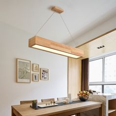LED Wooden Pendant Light With Arcrylic Shade,Simple Modern Style Pendant Lamp For Living Room/Sittin - All About Decoration Home Lighting, Lighting Design, Wooden Lamp, Farmhouse Lighting, Wood Ceilings, Lamp Design, Design Table, Design Design, Design Ideas