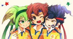 Fei Rune, Matsukaze Tenma and Tsurugi Kyousuke