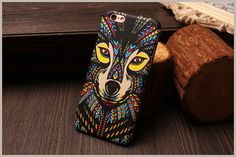 Fashion Style Colorful Painted Colorful wolf TPU Case for iphone