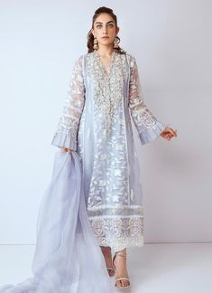 Gota embroidered dresses with elegant designs by designers. Gota embroidered dresses thread and gota embroidered available in USA with fast delivery Pakistani Formal Dresses, Pakistani Dresses Online, Pakistani Dress Design, Pakistani Outfits, Indian Dresses, Pakistani Clothing, Net Dresses, Pakistani Couture, Party Dresses