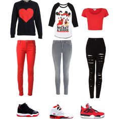 Some people are obsessed over Mickey or maybe your favorite colors are Red, Black, and White. These are three my favorite outfits