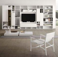 Mueble TV moderno / de madera SPAZIOTECA PIANCA