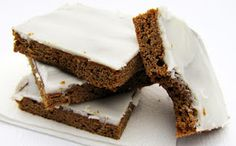 Rumbly In My Tumbly: Frosted Molasses Cookie Bars