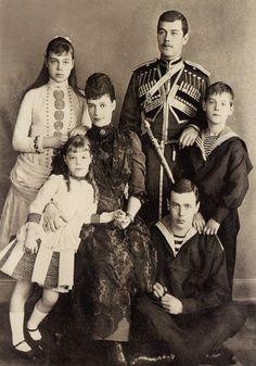 Maria Feodorovna (Princess Dagmar of Denmark) with family.