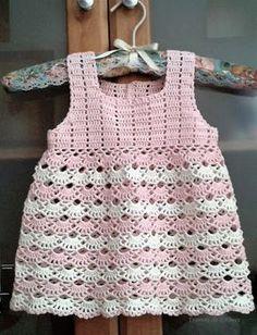 Crochet Baby Dress Free Pattern, Baby Booties Knitting Pattern, Baby Dress Patterns, Baby Knitting, Crochet Toddler, Baby Girl Crochet, Crochet Baby Clothes, Crochet For Kids, Crochet Baby Dresses