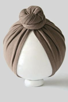 Sable Mini Top Knot Bun Turban