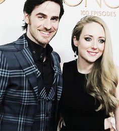 Colin and his wife, Helen O'Donoghue on the red carpet