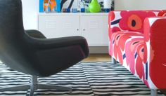 marimekko slipcovers for IKEA furniture
