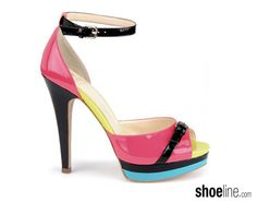 Hello 2013. (the Isola Daisi color-blocked patent platform). #shoes #fashion
