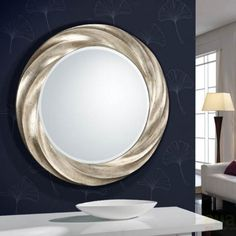 Schuller Rodas Round Mirror (Home , Decoration , Mirrors) Bathroom Mirror, Wood Framed Mirror, Round Mirror Bathroom, Mirror Photo Frames, Mirror Decor, Black Mirror Frame, Large Mirrors For Sale, Ornate Mirror, Mirror