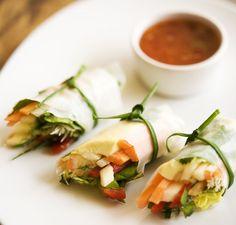 Gluten-free vegan salad roll-ups
