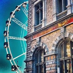 Ferris Wheel next to Central Station, Antwerp (Belgium).Some of the Best Chocolate in the World Ferris Wheels, Antwerp Belgium, Holland Netherlands, Photo Boards, Central Station, Bruges, Plan Your Trip, Belle Epoque, Roller Coaster