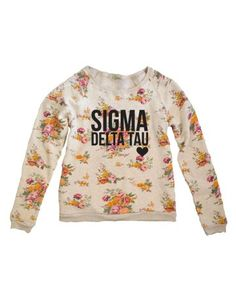 Floral Fleece Raglan from thegreeksupply - customize with your sorority