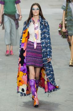 Chanel spring 2015 collection.  Karl Lagerfeld's message for the season was all about girl power.