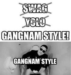 """Gangnam Style es un videoclip del cantante pop coreano PSY que se ha vuelto viral en los últimos meses. La gente se ha vuelto loca con este video y con su paso de baile """"the horse-riding dance"""". http://insomniohostel.blogspot.mx/2012/08/gangnam-style-de-korea-para-el-mundo.html"""